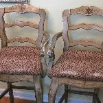 More worn upholstery