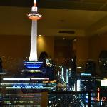 View of Kyoto tower from our room