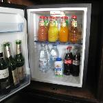 Mini Bar. Free Water and Milk