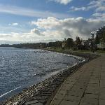 Shoreline view of Lake Onega from the Prionezhsky Club Hotel