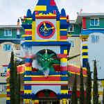 A Smoke breathing dragon awaits your arrival at the LEGOLAND Resort Hotel