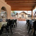 Terrazzo panoramico dell'hotel Iris Andalo