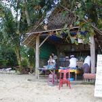 Beach massage booth