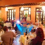 One of our Moroccan evenings includes traditional food and entertainment.