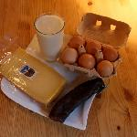 Milk, Cheese and Sausage we purchased directly from the farmer. It was incredible!