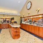 Hot continental breakfast bar