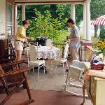 Enjoy morning coffee and breakfast on the front porch
