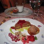chocolate and pistachio tart
