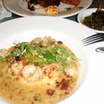 shrimp and grits with collard greens