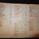 Menu, there is more on the other side.