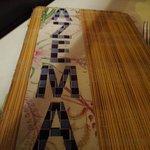 Unique cover of Azema's equally unique menu