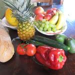 Fresh fruit and vegetables from the grocery store
