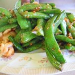 Stir-fry green bean with squid
