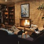 Fireside, lake view lobby