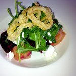 Beet Salad with Crispy Shallots