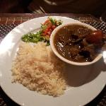 Lamb curry with rice