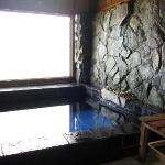 One of the hot baths for couples.