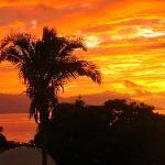 Sunset from restaurant