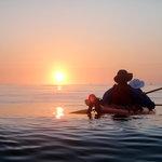 Kayaking into a Mendocino Sunset