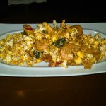Popcorn shrimp on a bed of popcorn