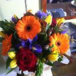 The flowers they organised for our anniversary