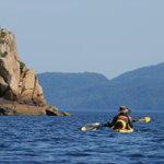 sea kayak on the Saguenay fjord