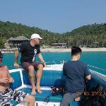 Paul (Centre) plus 2 divers, Koh Tao.