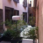 Inner courtyard from restaurant