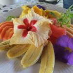 fruit plate, just a part of your delicious and beautiful breakfast