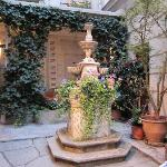 Tranquil inner courtyard that our room looked onto - you can buy a drink and have it here