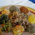 Closeup of dinner platter