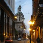 Walk down Defensa St from Plaza de Mayo to the hotel