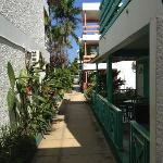 Walk way to beach and rooms