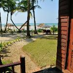 View of beach from side of Bungalow 115 - very short walk to the beach
