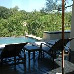 Private plunge pool at Ivory Lodge.