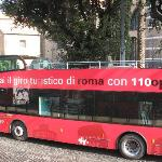 The bus near Termini - very first stop.