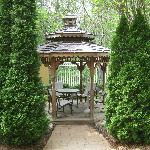 Gazebo in courtyard