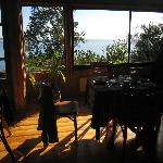 Dining room with view of Lake Llanquihue