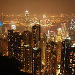 View from Bubba Gump Restaurant Hong Kong