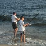 Shore fishing on Flagler beach