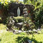 Garden outside the residence