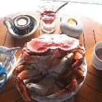 Fresh crab - what a treat!