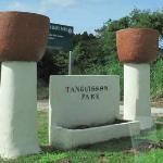 ビーチ手前の公園標識