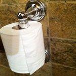 Softest toilet paper in the restaurant bathroom.