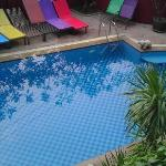 the pool from second floor