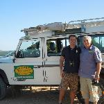 My husband with Derek on our safari