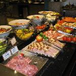 Salads and cold dishes buffet.