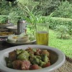 One of our tipical lunch, at the casita de toucan