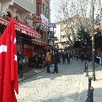 the view of the street close to the Sultanahmet hotel