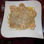 Pasta with Jumbo Shrimp, Garlic and Olive Oil